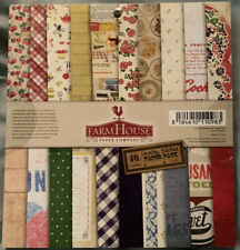 """Farm House FarmHouse Country Kitchen 6x6 6"""" Paper Pad Food Cooking 36 Sheets NEW"""