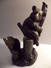"""3#Heavy 8"""" Vintage Bronze Chillin' Koala Bear In Tree Figurine Statue Sculpture"""