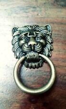 Brass FURNITURE Hardware Drawer Ring Pull lion head Bosetti Marella Italy