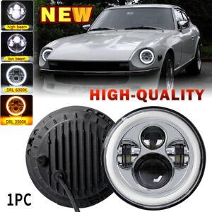 Chrome 7Inch Round LED Headlight Hi/Lo For Datsun 240Z 260Z 280Z 280ZX 1970-1978
