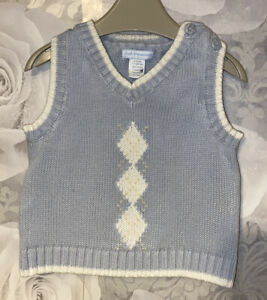 Boys Age 6-9 Months - First Impressions Sleeveless Jumper