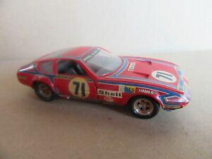 436I Solido No 16 Made in France Ferrari 365 GTB4 Le Mans 1974 #71 Touroul 1:43