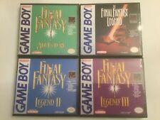 Final Fantasy Adventure + Legend I, II, III - Game Boy GB Cases - *NO GAME*