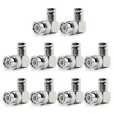 10Pcs Adapter 90° BNC Plug Male To BNC Female Jack RF Connector Right Angle UE