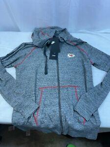 Kansas City Chiefs Womens Size Large Full Zip Jacket Gray New AR8686-091