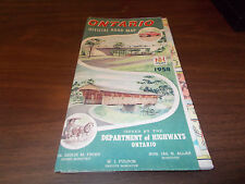 1958 Ontario Province-issued Vintage Road Map