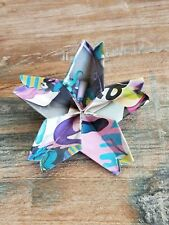 "Handmade Origami Flower Sakura Brooch Paper Art Pin Recycled Magazines 2.5"""