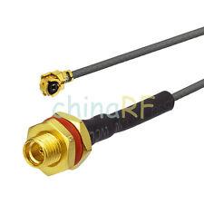 MMCX Female Jack Bulkhead O-ring to IPX / U.FL for 1.13mm cable 15cm 50 Ohm