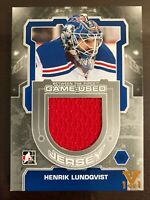 2012-13 Between The Pipes Game-Used Jersey Silver Henrik Lundqvist Vault 1/1