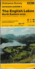 1986 ORDNANCE SURVEY PAPER MAP - OUTDOOR LEISURE 5 - ENGLISH LAKES NORTH EASTERN