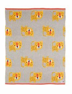 Bizzi Growin Leopard Knitted Baby blanket
