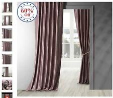 Smokey Plum Vintage Textured Faux Dupioni Silk Curtain 54W X 96L