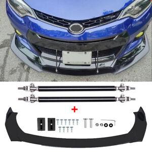 Front Bumper Lip Spoiler Splitter Protector +Strut Rods For Toyota Corolla 09-21