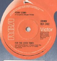 "Perry Como ‎– For The Good Times / Sing 7"" NM"
