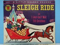 VINTAGE 1954 SLEIGH RIDE & I JUST CAN'T WAIT TILL CHRISTMAS LITTLE GOLDEN RECORD