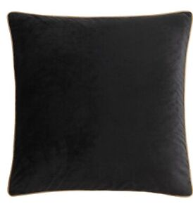 "Veratex Chambord ONE Euro Sham Black Velvet Front Gold Velvet Back 26x26"" NEW"