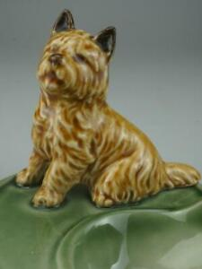 Vintage English Porcelain Wade Cairn Terrier Pipe Rest Stand Holder 1960's/70's