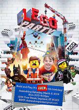 Personalize Lego Invitation, Lego Party, Legos Movie Birthday Invite