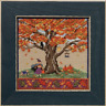 MILL HILL Counted Cross Stitch Beads Kit MIGHTY OAK TREE QUARTET Fall