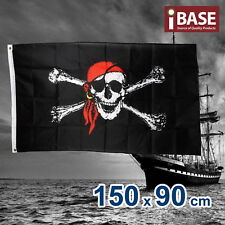 Jolly Roger Skull & Crossbones Pirate Flag Outdoor Black 150x90cm 5x3ft