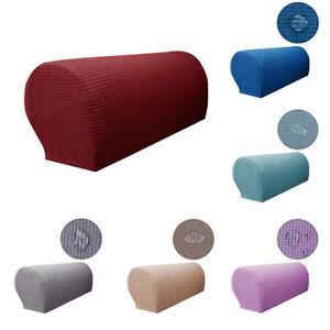 2 Pieces Sofa Armrest Covers Stretchy Set Chair Sofa Arm Protectors Home Decor