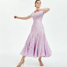 Latin Ballroom Dance Dress Modern Salsa Waltz Standard Long Dress#Q136 3 Colors