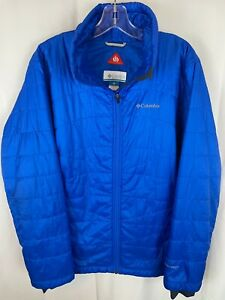 COLUMBIA Women's Royal Blue Omni Heat Quilted Ripstop Lightweight Jacket Size 1X