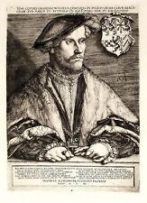 Guglielmo di Jülich-Kleve-Berg Duke Wilhelm V of Cleve Incisione Originale 1800