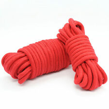 Red soft cotton restraint rope 5 metres long. Fancy dress
