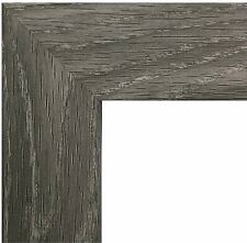 """US Art Frames 1"""" Flat Distressed Light Grey, Wall Décor MDF Picture Poster Frame"""
