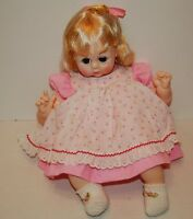"Madame Alexander Vintage 1965 PUSSYCAT 20"" new crier pretty pink dress with rose"