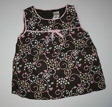 Nuevo Gymboree Outlet Marrón Floral Swing Camiseta sin Mangas Talla 3t Nwt