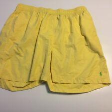 Polo Ralph Lauren Mens Bathing Suit Yellow Bottoms Pony Logo Swim Trunks 2X BIG