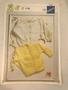 "Phildar 4 Ply Baby Cardigans Knitting Pattern 18"" - 22"" inch"