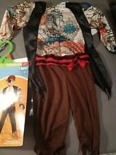 New Toddler Inked Pirate Halloween Costume Muscle Suit 2T, 3 Piece Set