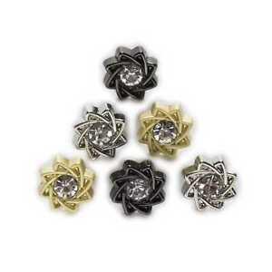 5pcs Small Metal Shank Button Sewing Handmade Apparel Shirt Decor 11mm
