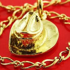CHARM BRACELET REAL 14 KT YELLOW VERMEIL GOLD TRADITIONAL SOLID FINE LINK DESIGN