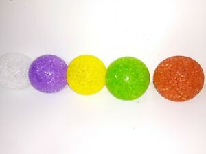 JOB LOT. 144 pet dog cat play transparent particles non-toxic rubber balls