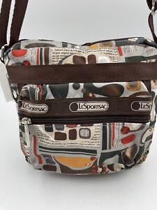 LeSPORTSAC ~ ELLIE MESSENGER BAG NWT Revival Print Adjustable Strap