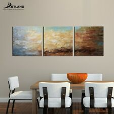 Large Abstract Oil Painting Modern Hand-painted Framed Wall Art 3-Piece / Set