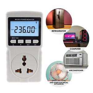 Power Meter Plug-in Socket Design Wattmeter Energy Voltage Current Frequency