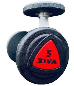 Ziva ZVO Urethane Dumbbells Set Of 5 lb Pro Style