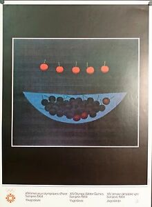 VINTAGE 1984 Sarajevo Olympics Poster - Designed by Yozo Hamaguchi