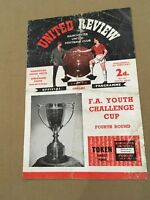 MANCHESTER UNITED V SUNDERLAND FA YOUTH CUP CHALLENGE CUP 4TH ROUND 1960/61