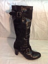 Sole Sister Black Knee High Leather Boots Size 39