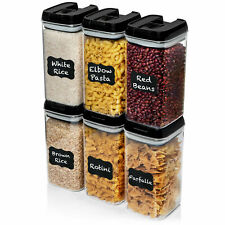 Airtight Food Storage Container (Set of 6)BPA Free Clear Improved Lid $39 Retail