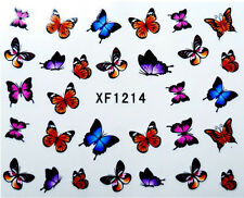 Real Mix Colour Butterfly Water Transfer Nail Art Stickers Decals  Decoration