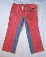 DIESEL Low Rise Colorblock Belted Cropped Jeans ~ Redish Denim ~ Size 27 / W28