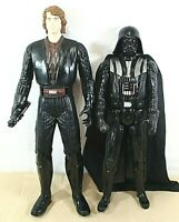 """STAR WARS Mattel 2012 13"""" Anakin Skywalker & 2013 12"""" Darth Vader Action Figures"""