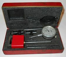 """CENTRAL TOOL COMPANY """"UNIVERSAL DIAL TEST INDICATOR #260"""" IN RED BOX, VINTAGE!"""